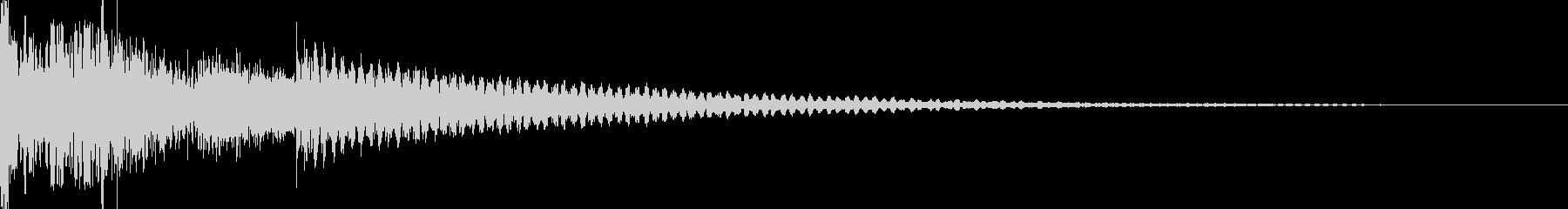 ジノ リール停止音(エジプト音階)の未再生の波形