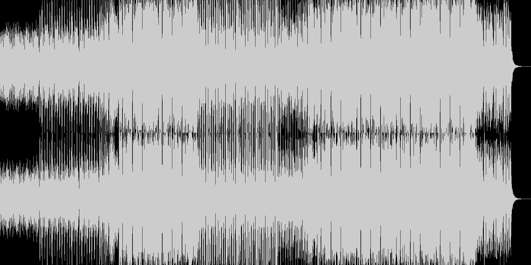 感動系Future bass風EDM曲の未再生の波形