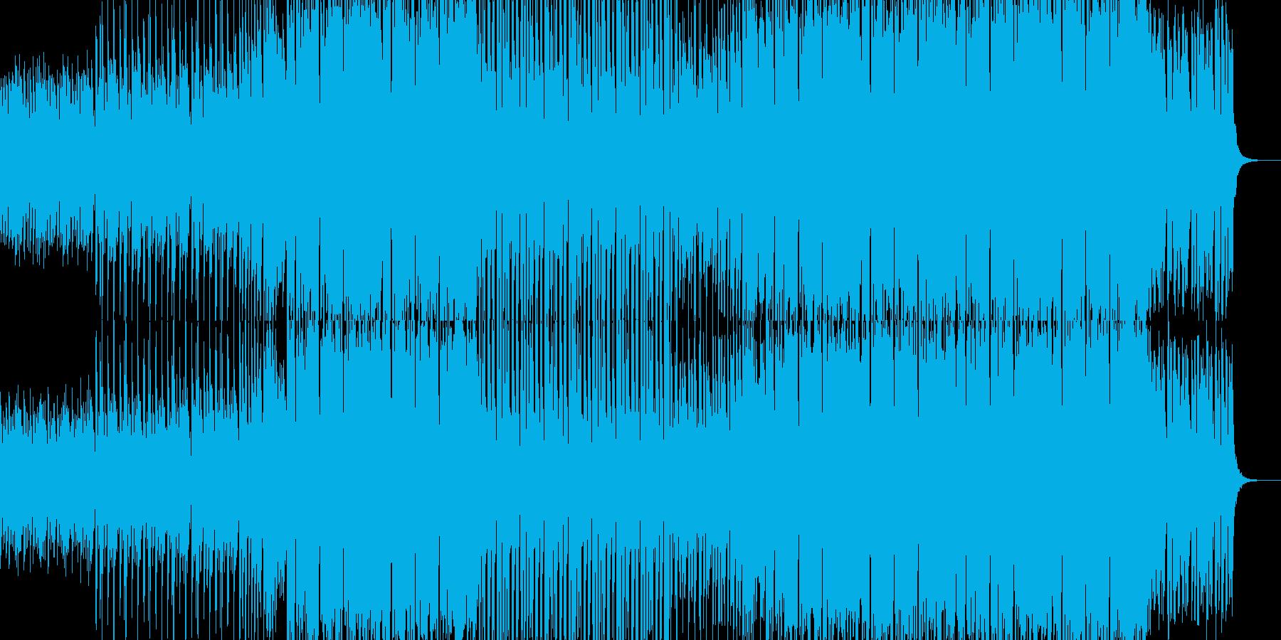 感動系Future bass風EDM曲の再生済みの波形