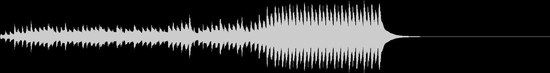 悲しい運命を思わせる琴の未再生の波形