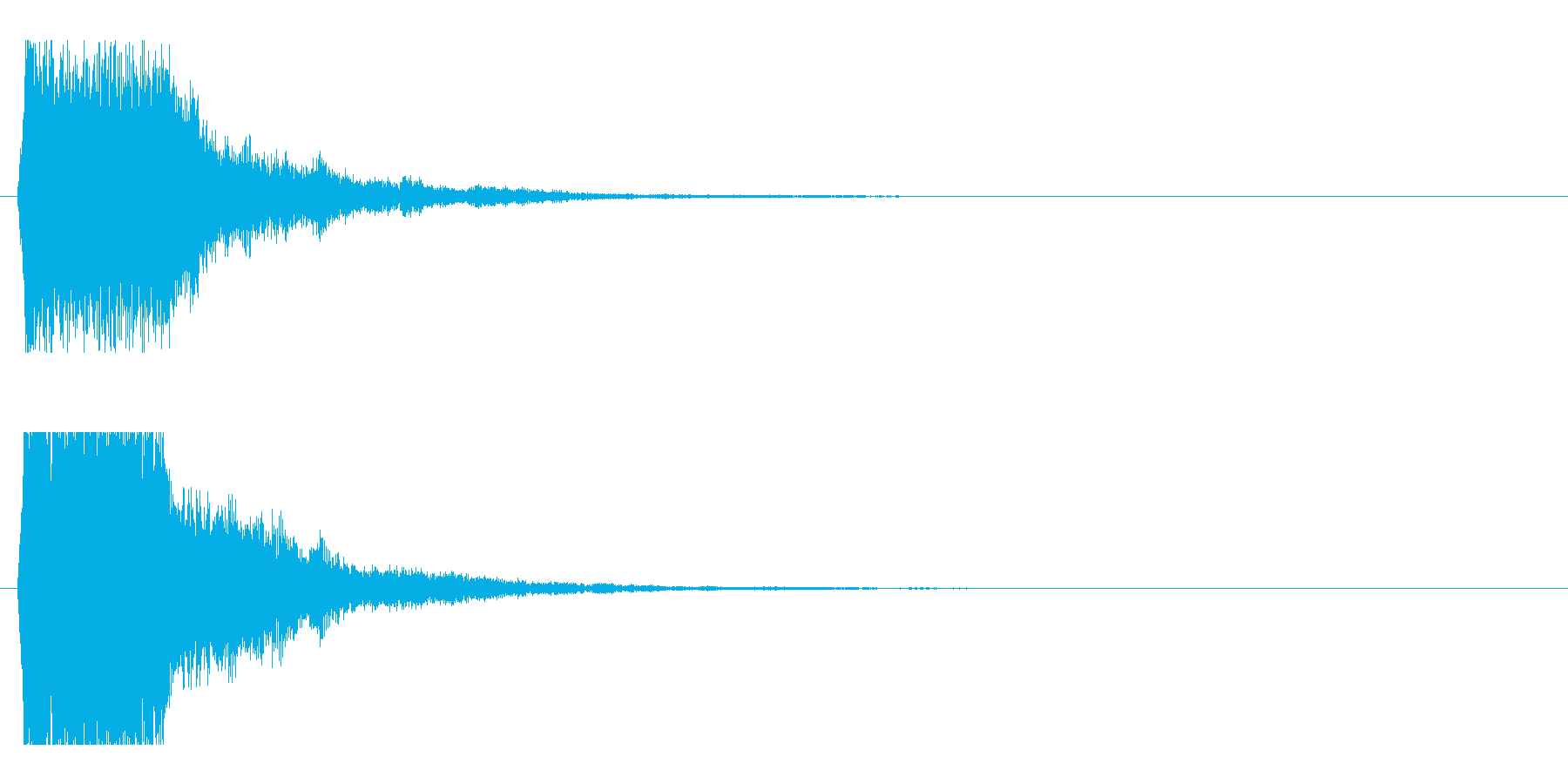 レーザー音-50-1の再生済みの波形
