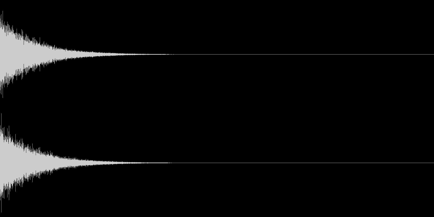バーン+シューン(消滅/消え去る)2の未再生の波形