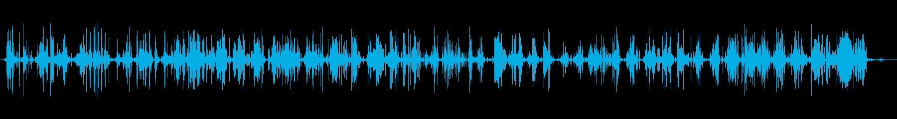 フットステプス、小石、シャッフル;...の再生済みの波形