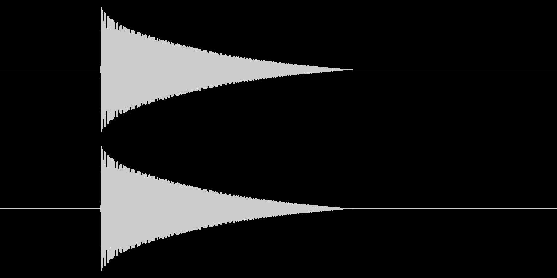 ファミコン風_ピューン_弾を打つ音1の未再生の波形