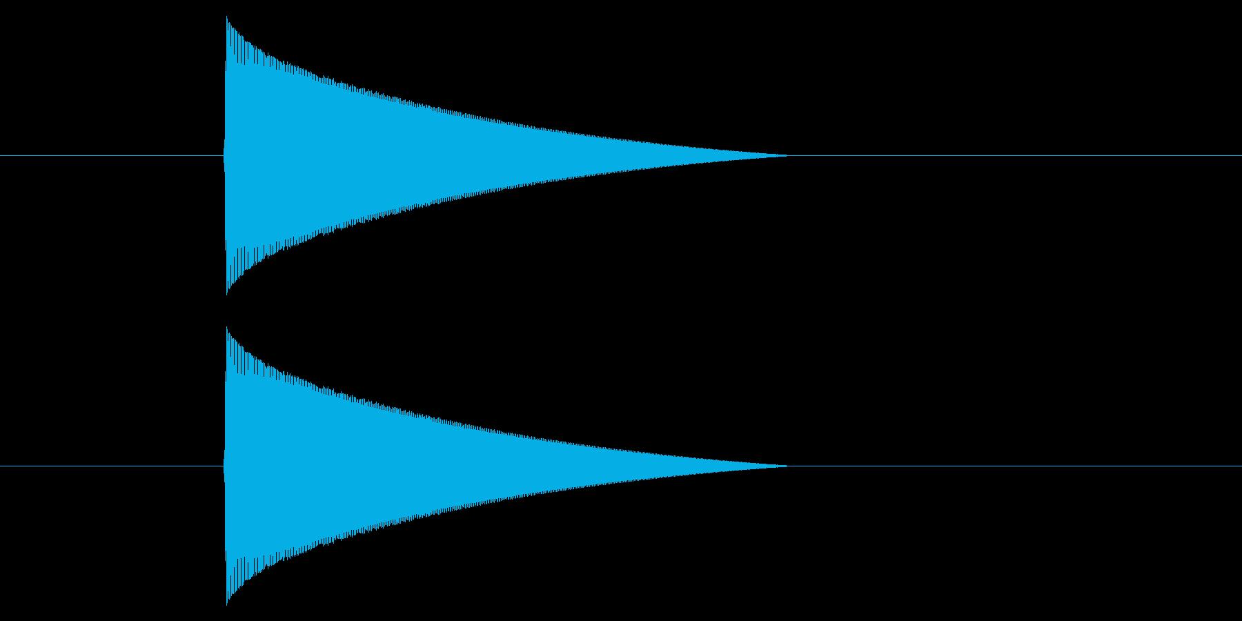 ファミコン風_ピューン_弾を打つ音1の再生済みの波形