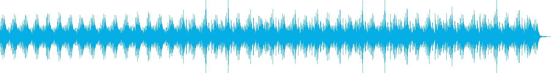 ヒーリング・ハープ・リラックスの再生済みの波形