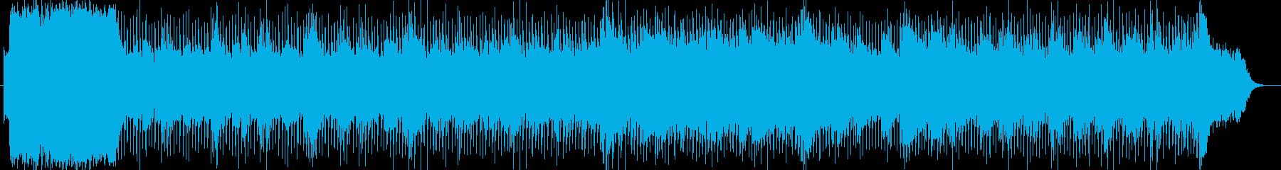 厳格さを感じさせるシンセ曲の再生済みの波形