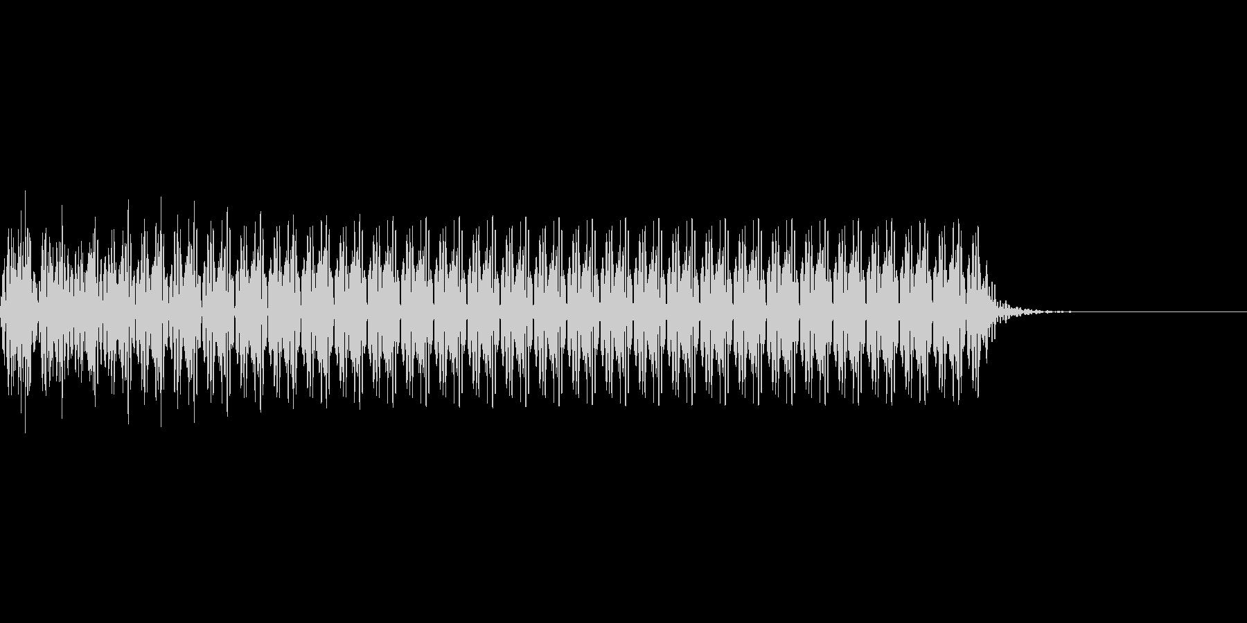 不正解のブザー音 1C ブーの未再生の波形