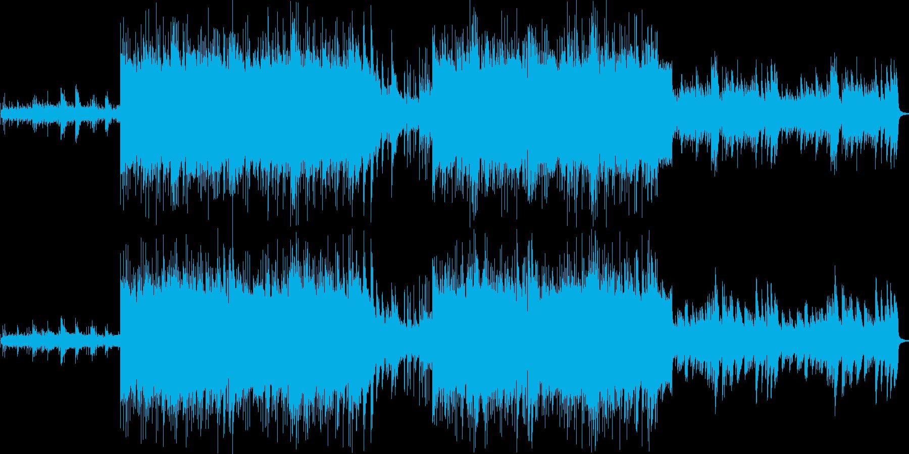 止められない感情 切ないピアノの再生済みの波形