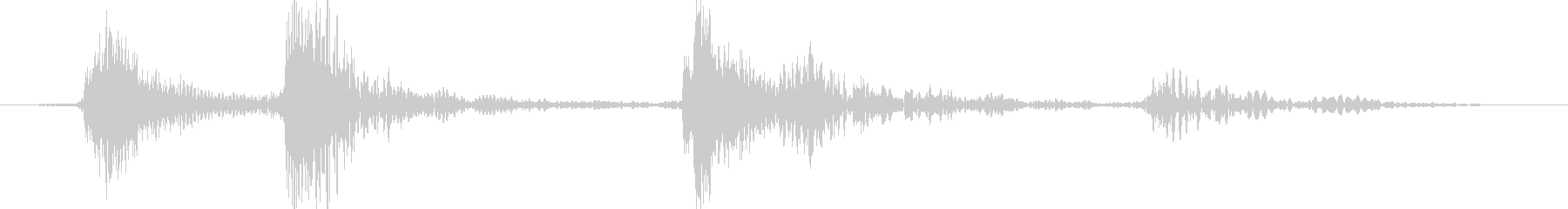 機械音の未再生の波形