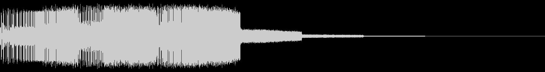 ギューイギューイン(上昇)の未再生の波形