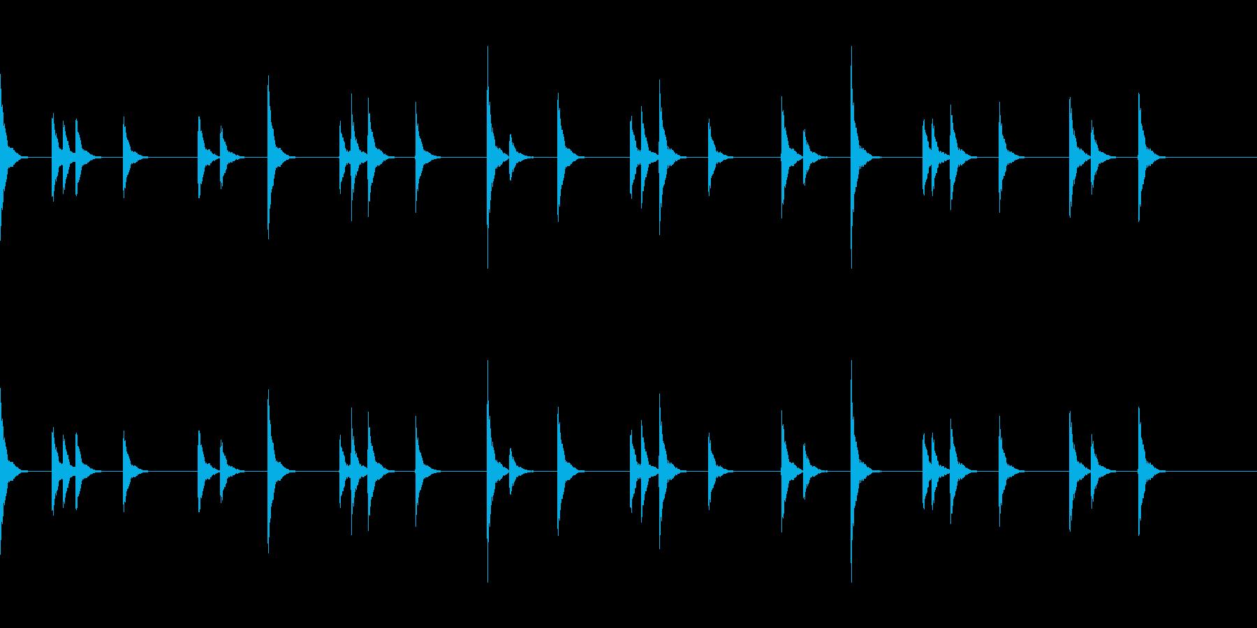 音侍SE お囃子祭りの当たり鉦のループ音の再生済みの波形