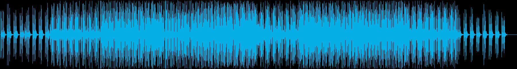 透明感のあるトロピカルハウス風の再生済みの波形