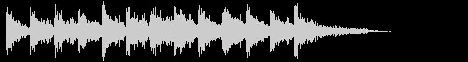 軽快な跳ねるリズムのウクレレのジングルの未再生の波形