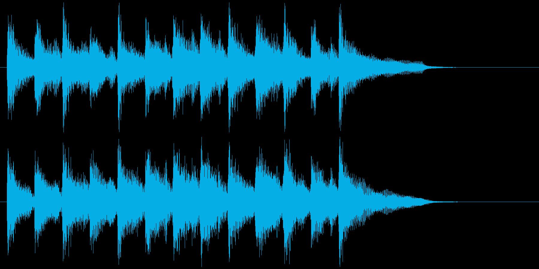 軽快な跳ねるリズムのウクレレのジングルの再生済みの波形