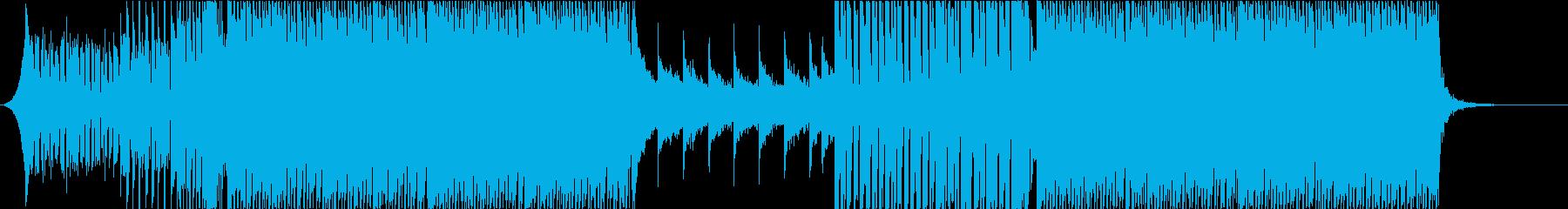 キラキラしたEDMの再生済みの波形