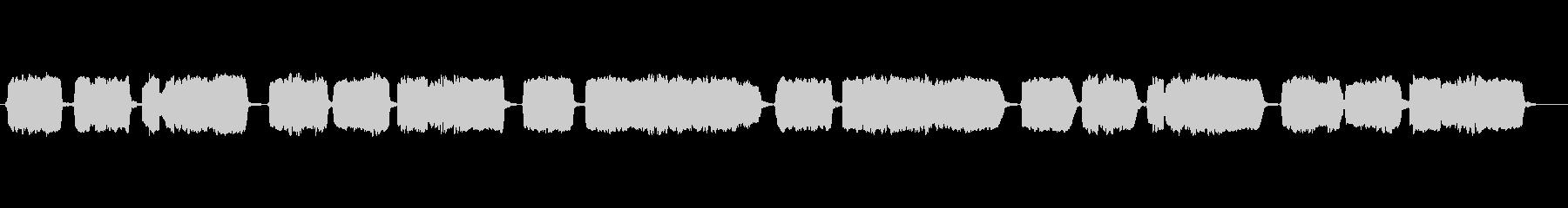童謡「七つの子」の篠笛独奏の未再生の波形