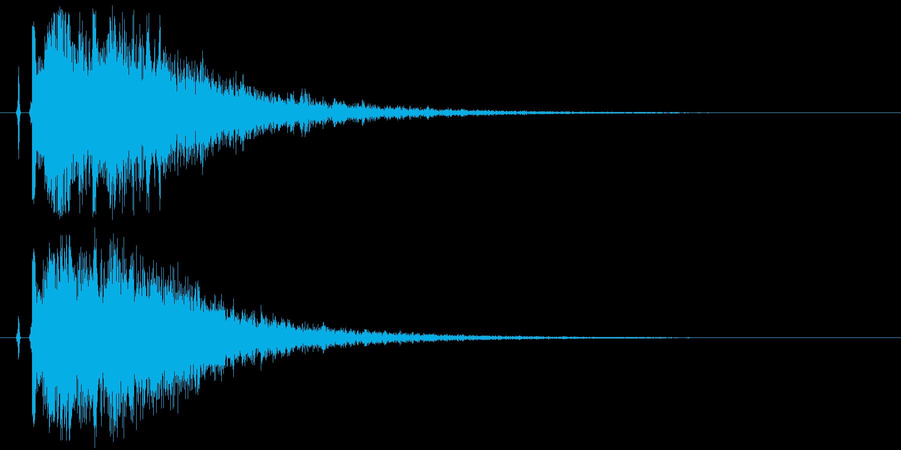 【カカン】拍子木【和風な日本伝統芸能】2の再生済みの波形