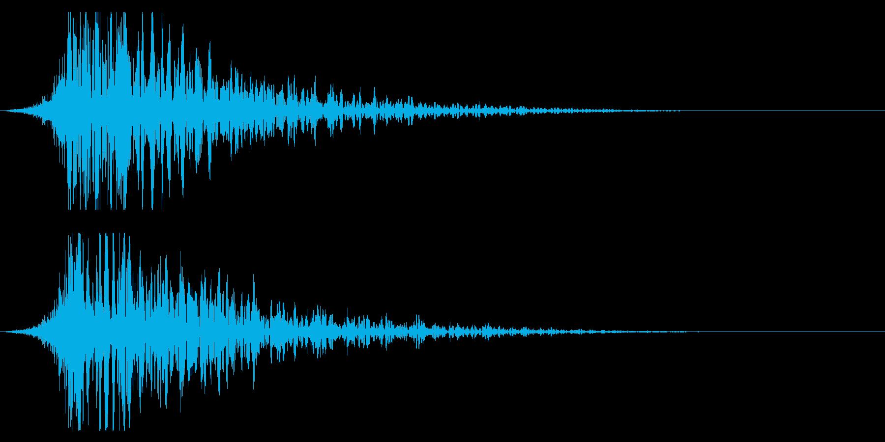 シュードーン-21-1(インパクト音)の再生済みの波形