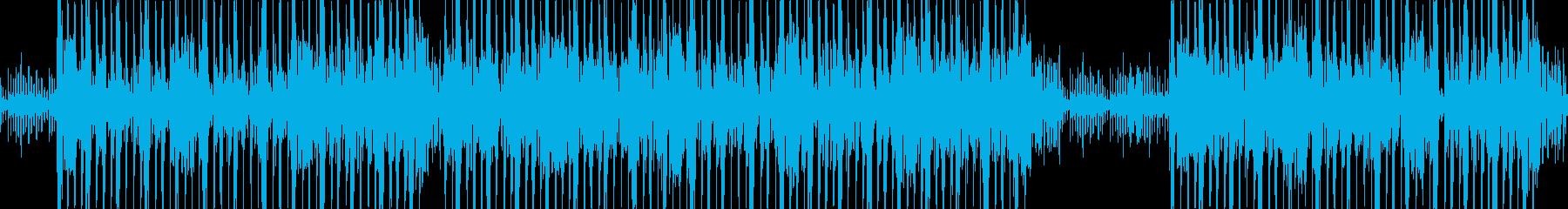 機械的な不気味シンセサウンドの再生済みの波形