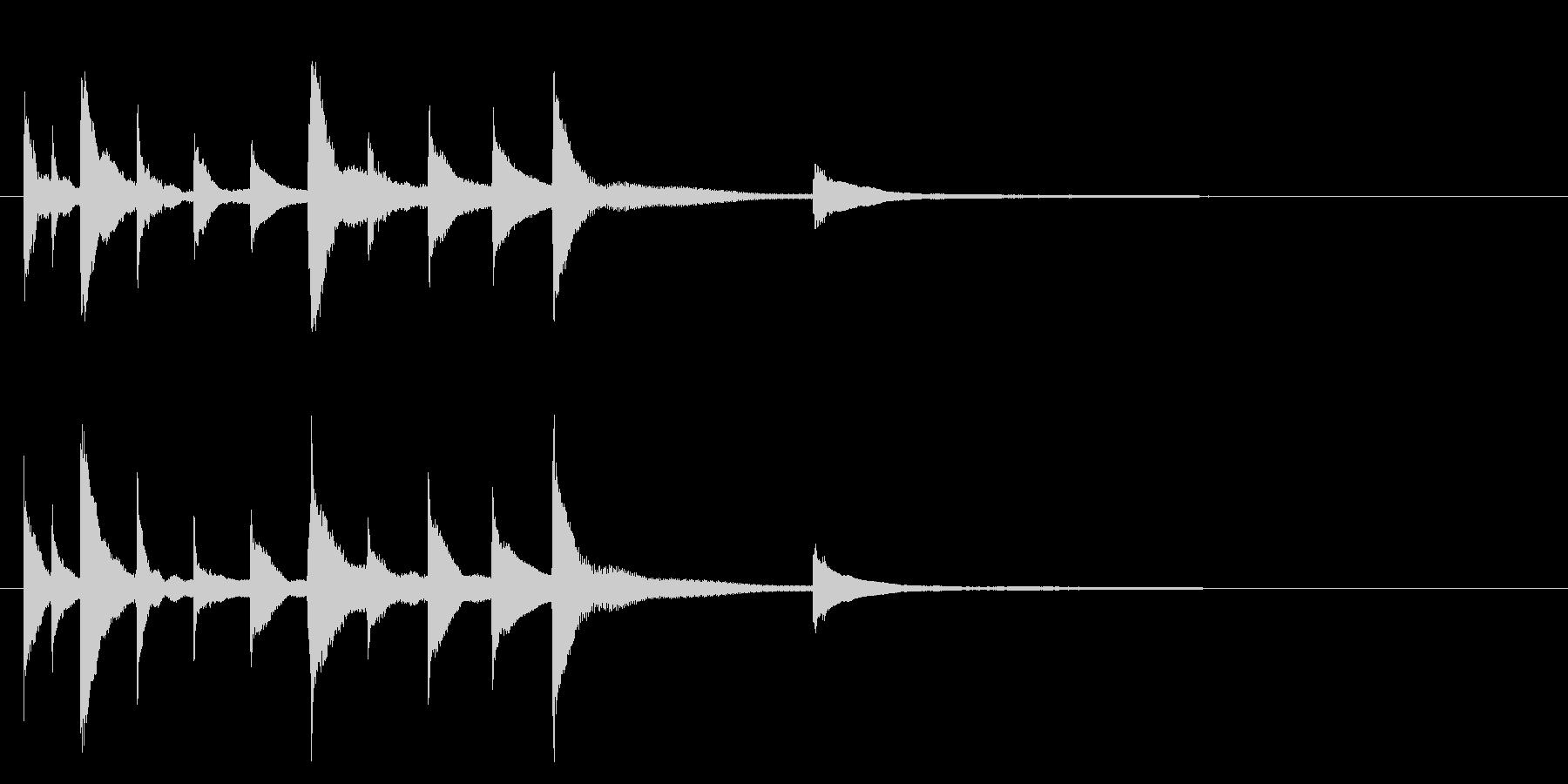 切ないピアノソロジングルの未再生の波形