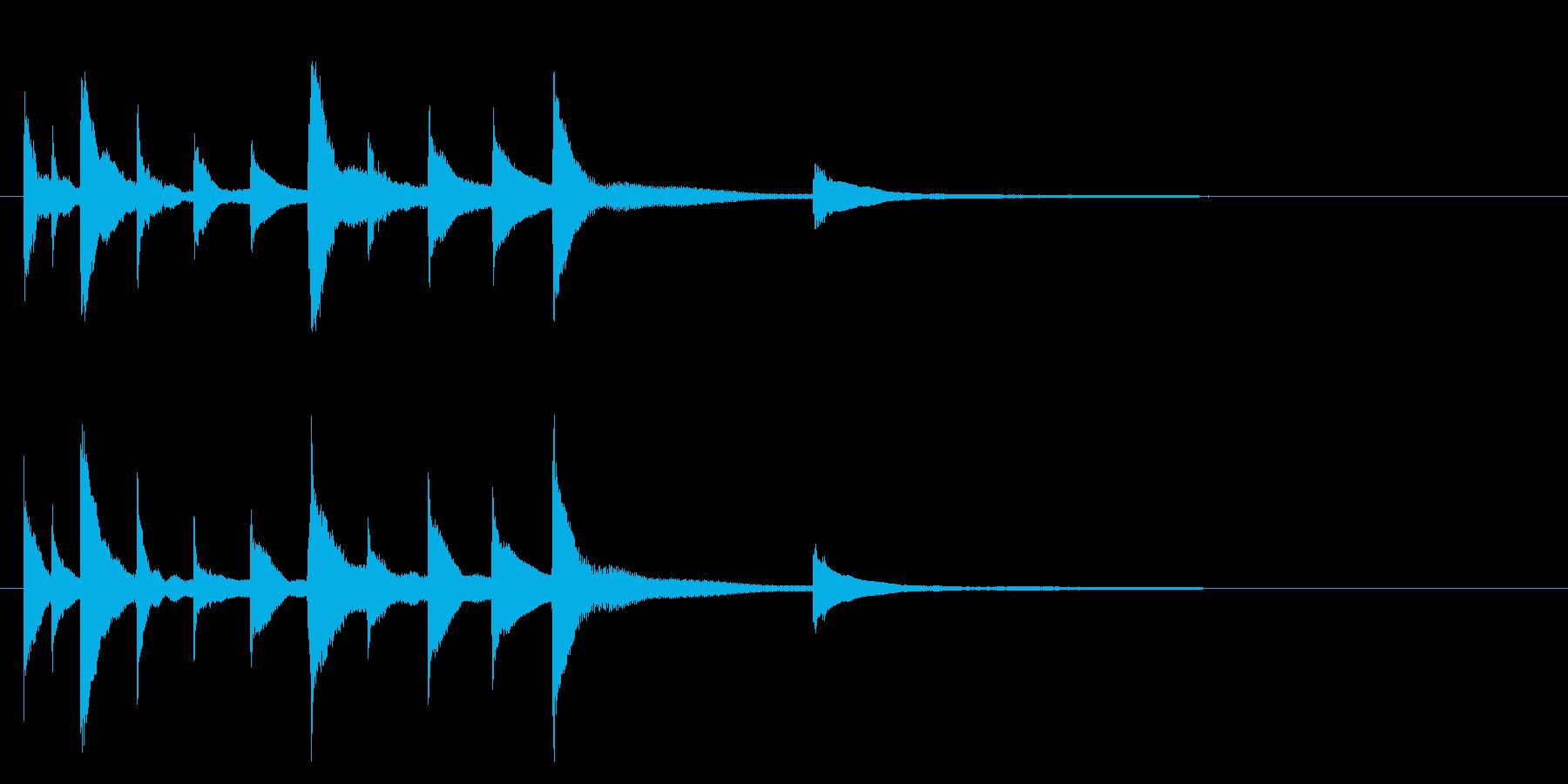 切ないピアノソロジングルの再生済みの波形