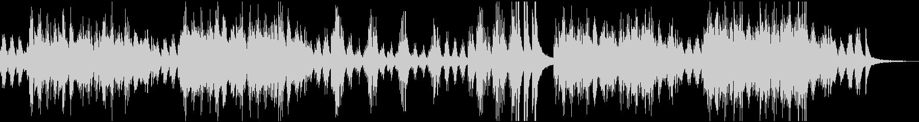 前向きで明るいイメージのピアノソロの未再生の波形