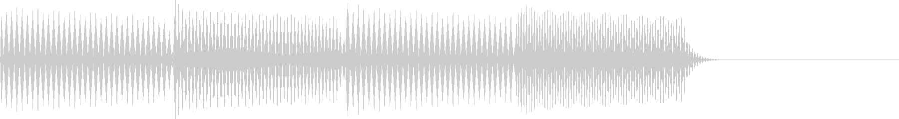 ピロリロ(決定、表示、ヒント)の未再生の波形