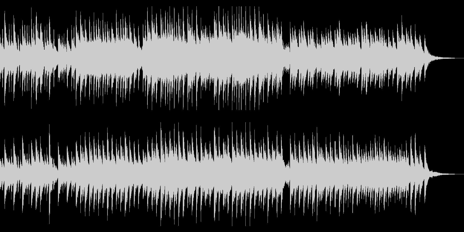 琴とピアノの穏やかな和風曲の未再生の波形