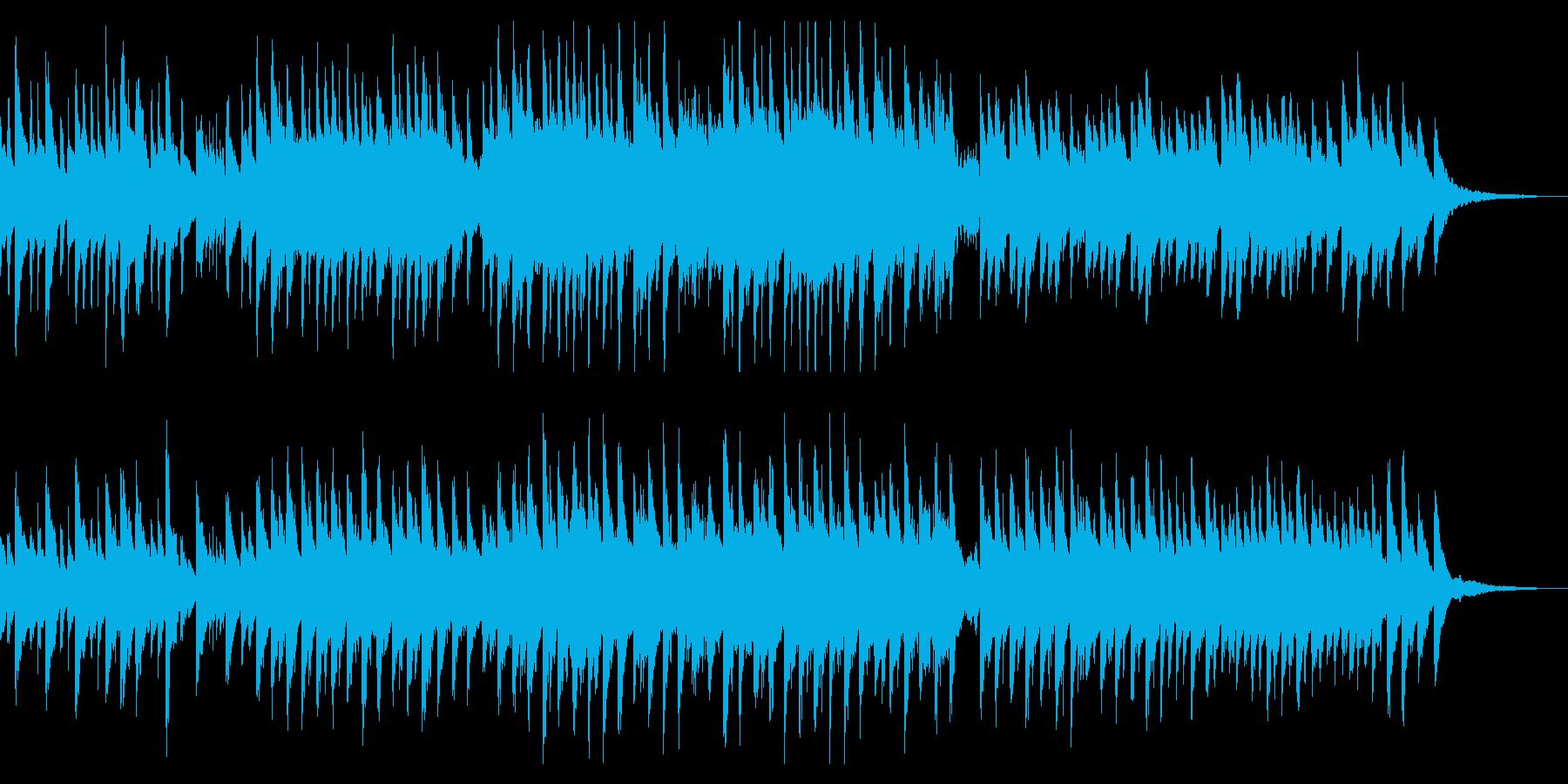 琴とピアノの穏やかな和風曲の再生済みの波形