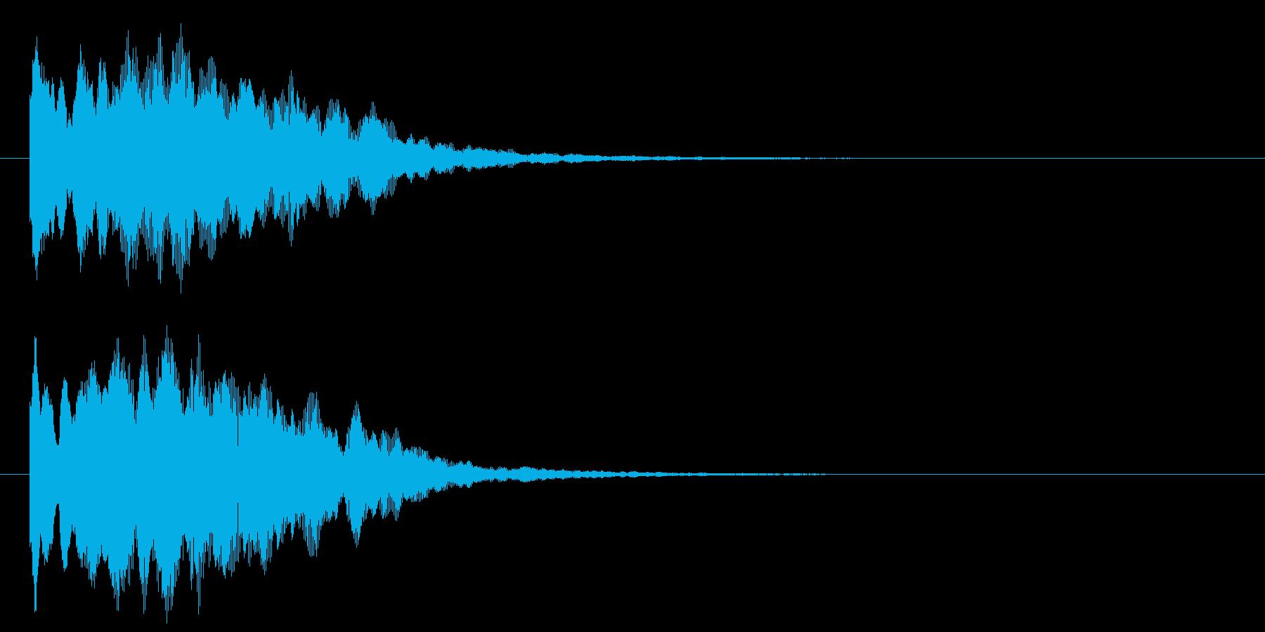 古いパソコンの終了音風ジングル2の再生済みの波形