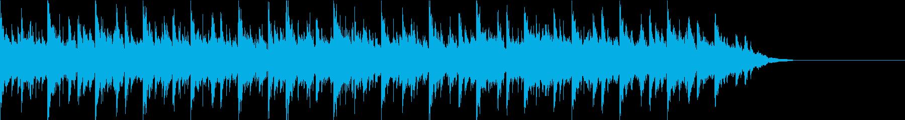 ゆったりしたオシャレなBGMです。の再生済みの波形
