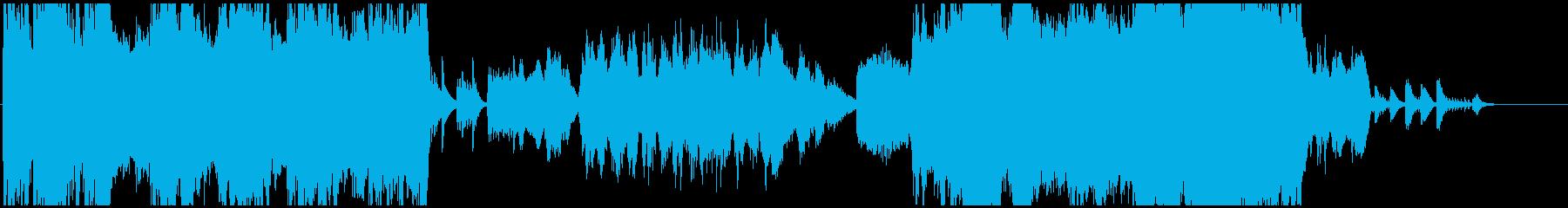 オーケストラでファンタジー風OP曲の再生済みの波形