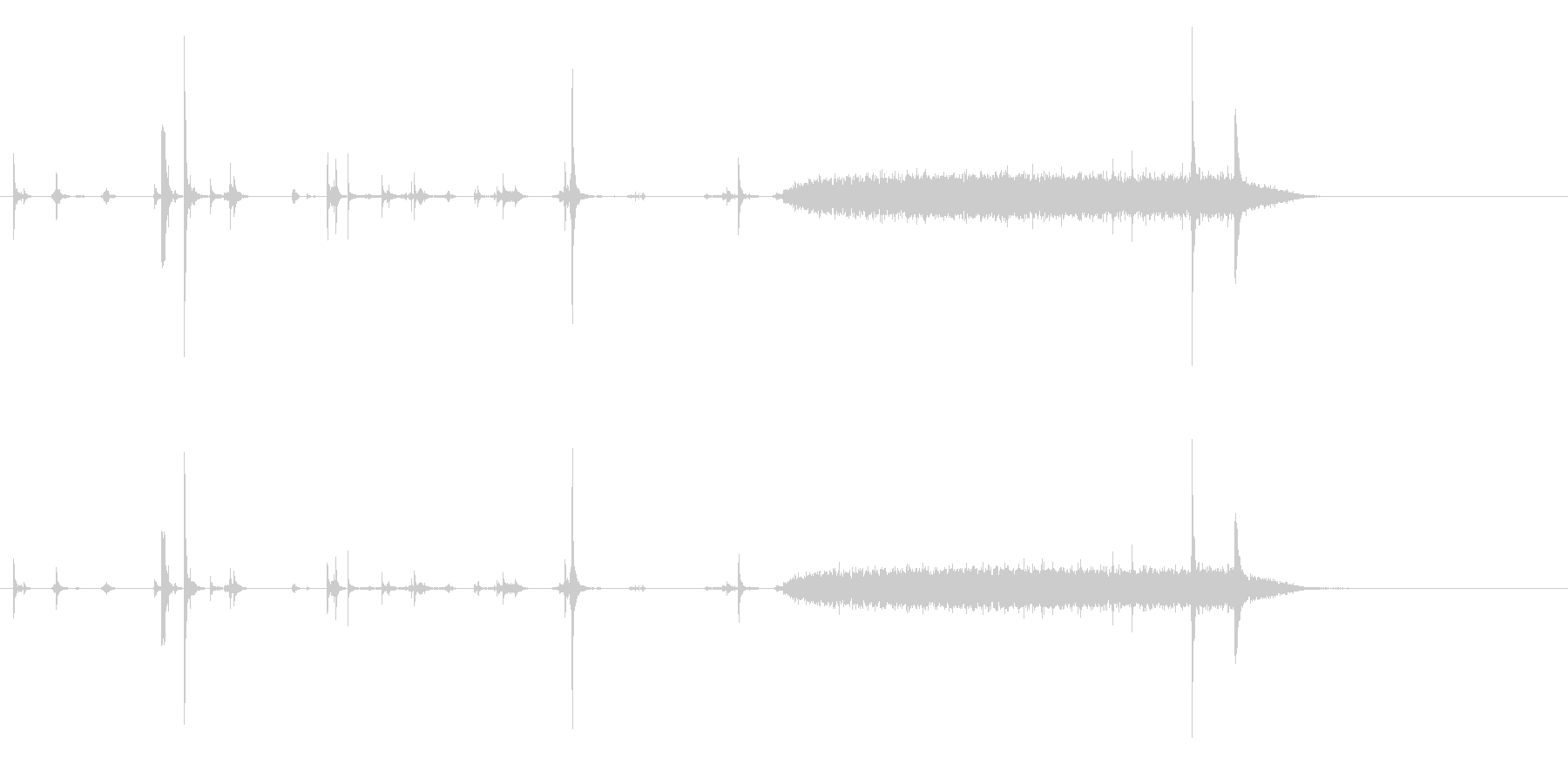 ポラロイドカメラ-フィルムカートリ...の未再生の波形