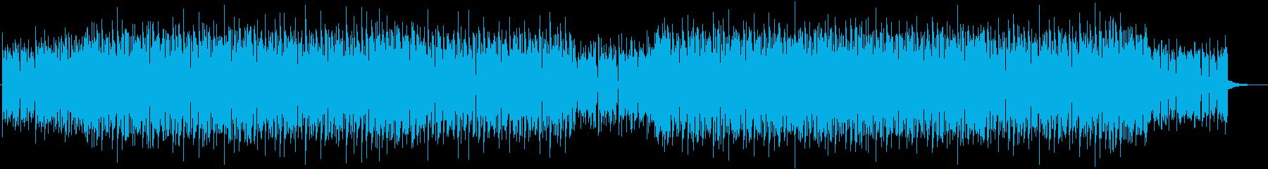 アッパーなピアノダンスミュージックの再生済みの波形