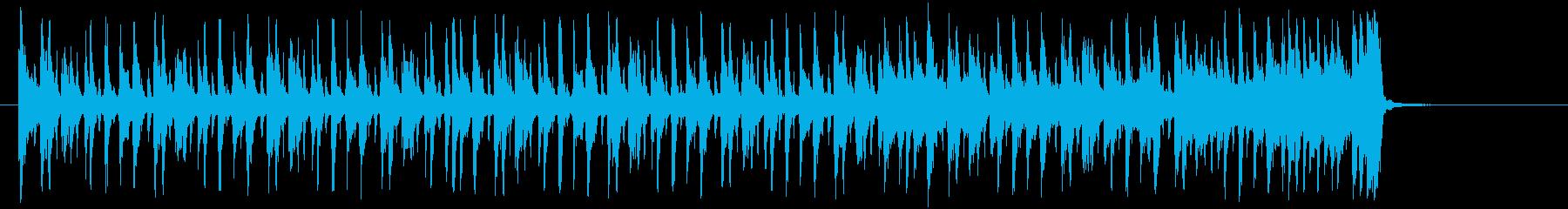 軽快でパーカッシブなジングルの再生済みの波形