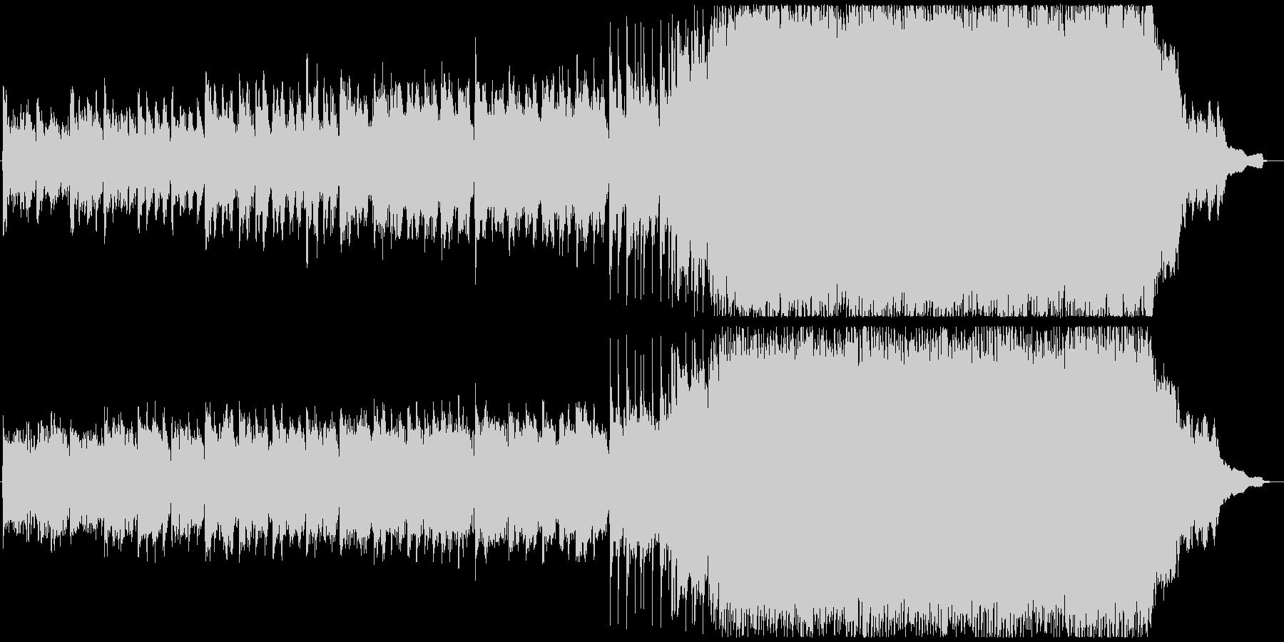ストリングスとピアノのロックな曲の未再生の波形