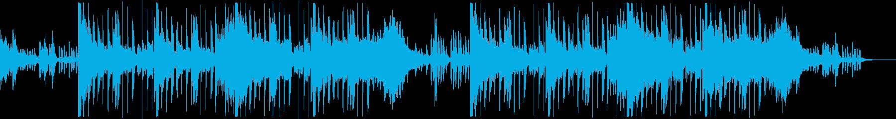 ダーク&派手な映画サウンドトラックの再生済みの波形