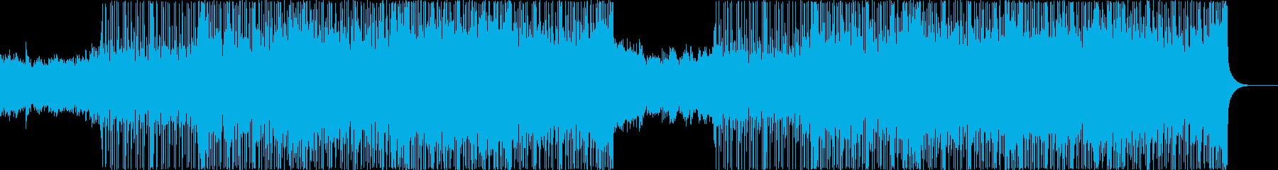 スラップベースが特徴的なフュージョンの再生済みの波形