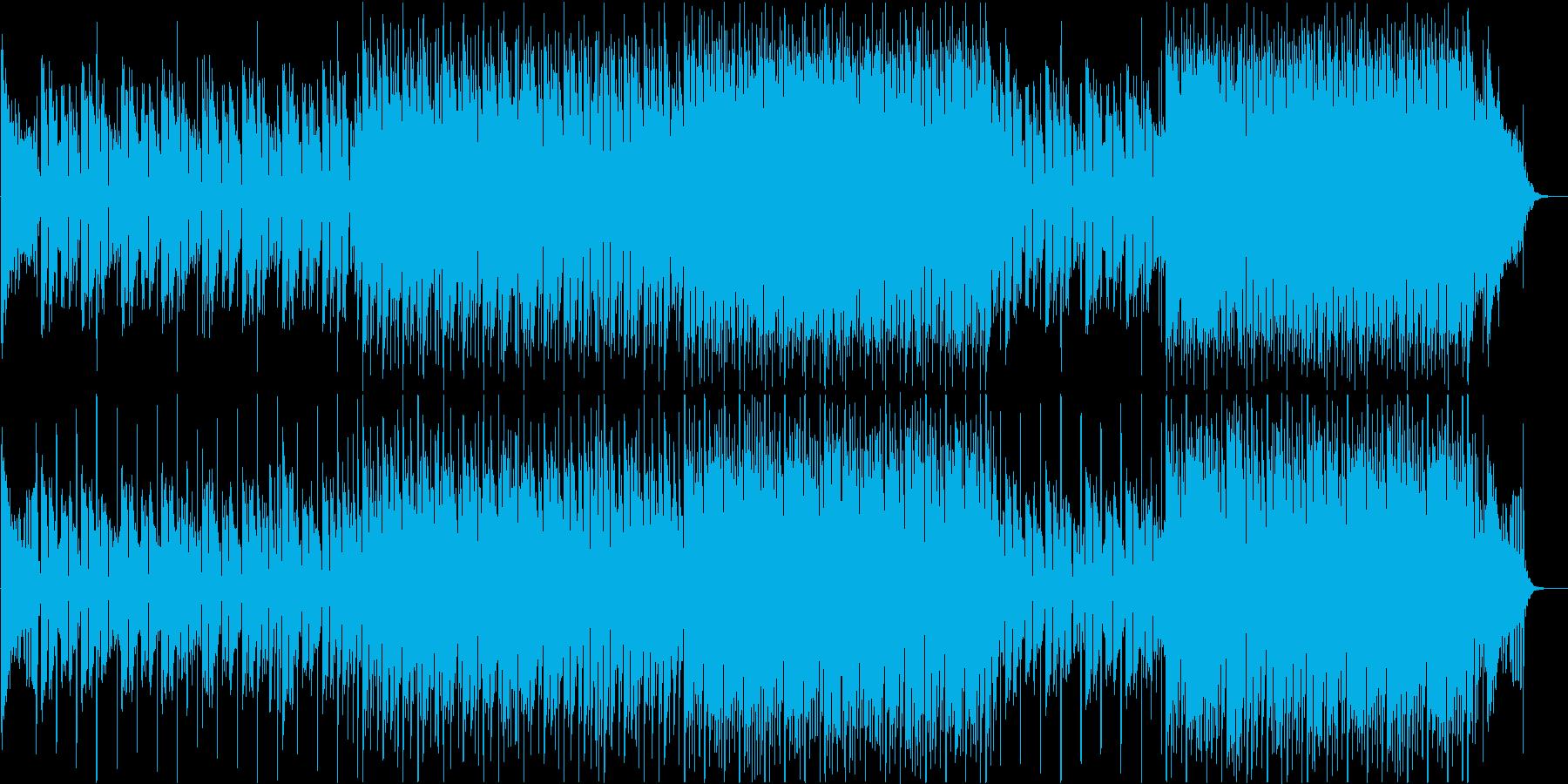 穏やかで暖かいおしゃれなBGMの再生済みの波形