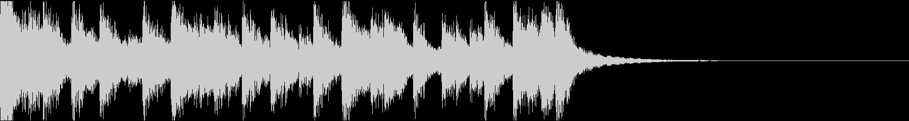 琴、電子音ダーク/サウンドロゴの未再生の波形