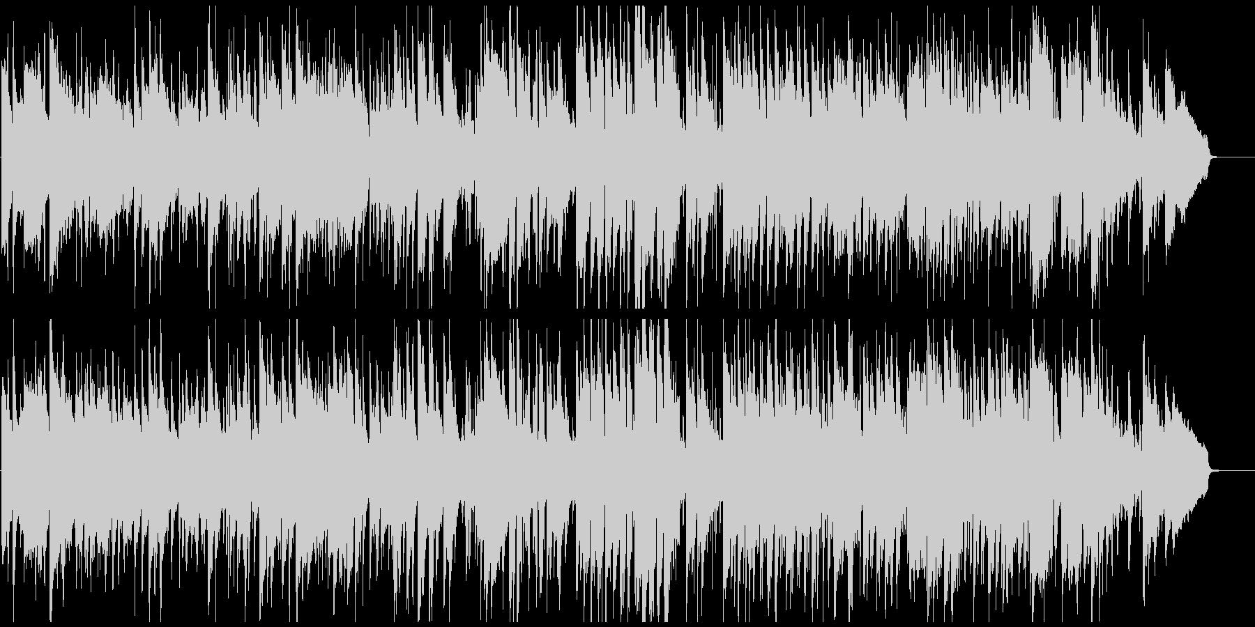 シリアスで少しファンキーな5拍子のジャズの未再生の波形
