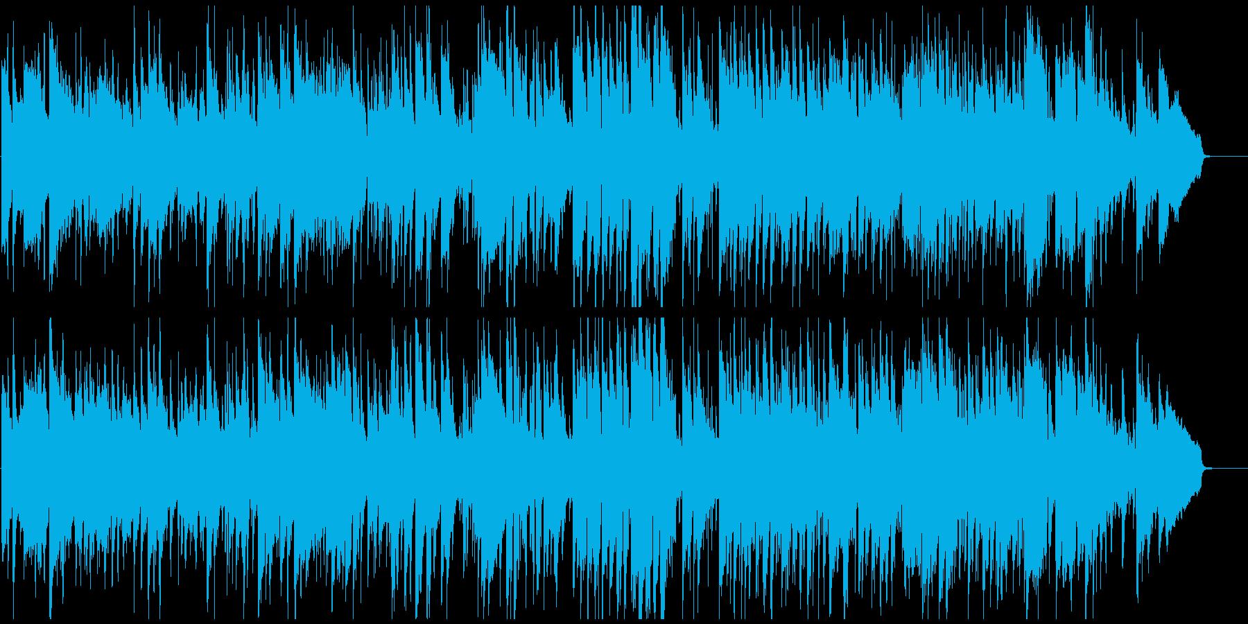 シリアスで少しファンキーな5拍子のジャズの再生済みの波形