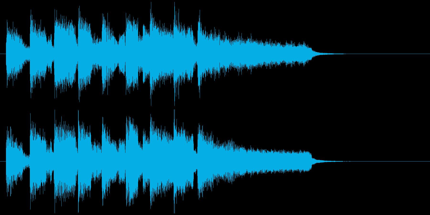 ブルージーなリコーダーの楽しいジングルの再生済みの波形