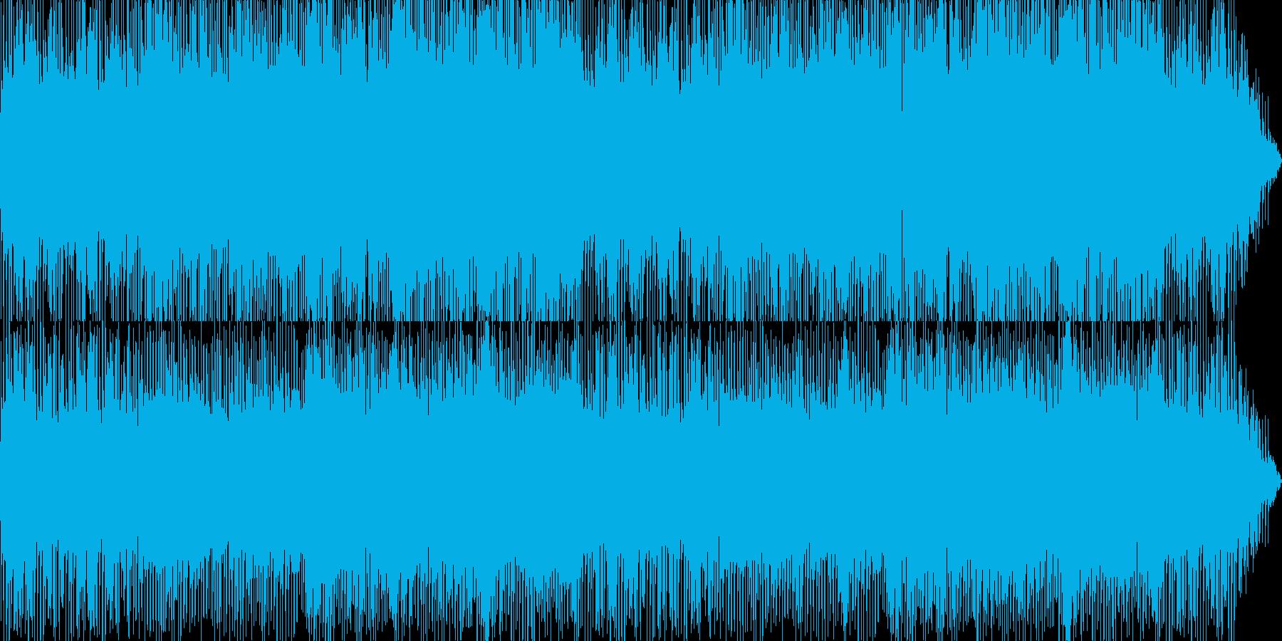 エレキギター旋律の夏らしいフュージョンの再生済みの波形
