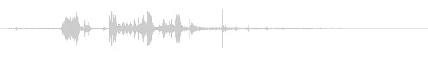 ガラガラメタルヒットの未再生の波形