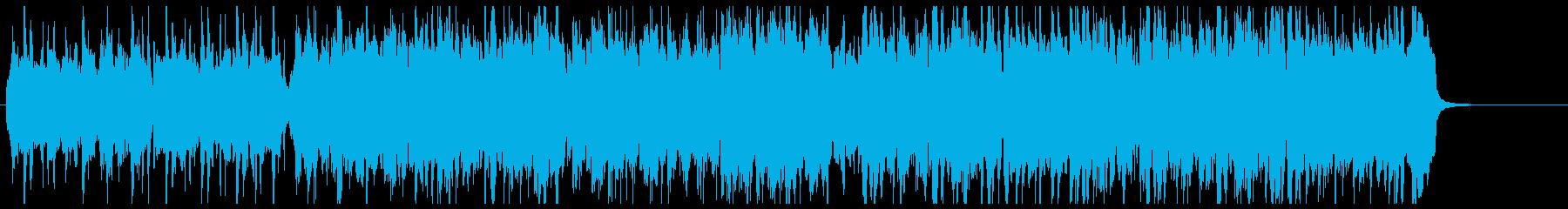 明るく軽快な民族音楽の再生済みの波形
