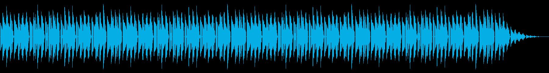 GB系風和風ゲームのED曲の再生済みの波形