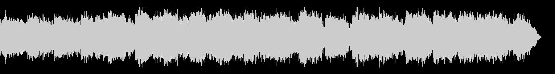 シンセサイザーとケーナのヒーリング音楽の未再生の波形