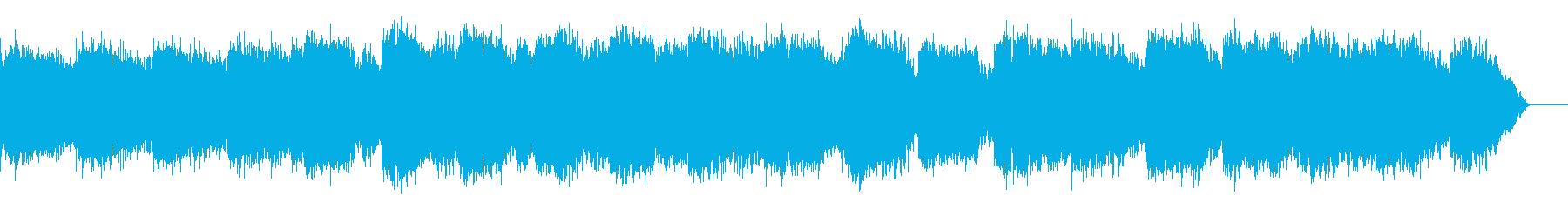 シンセサイザーとケーナのヒーリング音楽の再生済みの波形